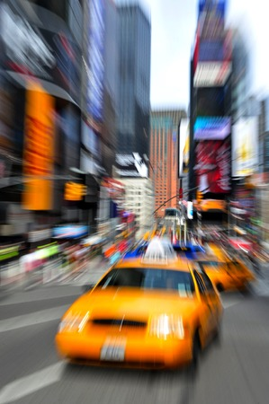 the traffic movement police: Traffic on Time Square in Manhattan New York USA