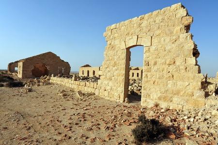 israel war: German-Turkish old buildings from the first world war in Nizana, Israel.