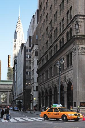 taxicabs: The Chrysler Building Manhattan New York, USA.