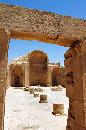 The church of the Byzantian city of Shivta Israel