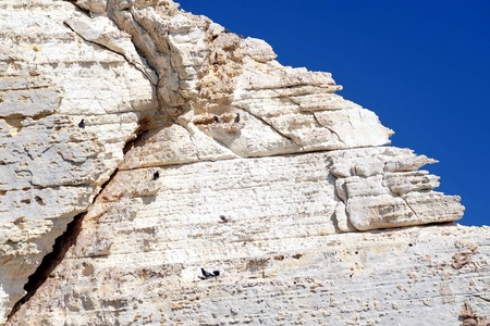 hanikra: Rosh HaNikra grottoes that located between Israel and Lebanon border in North Israel. P Stock Photo