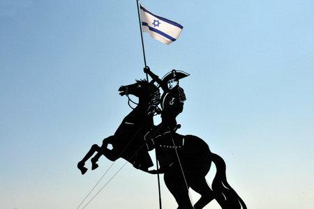 acre: Statue of Napolion in Acre Akko, Israel. Editorial
