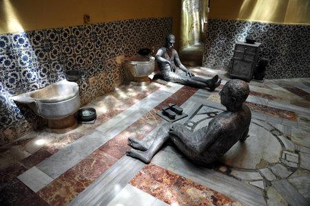 acre: Turkish Hammam bath in Acre Akko, Israel.