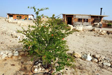 negev: Desert lodges in the Negev desert , Israel.