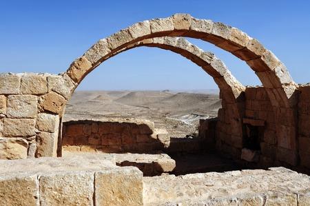 nabataean: Roman villa in Nabataean city of Avdat Israel