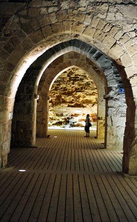 acre: Knight templar castle in Acre,  Israel.