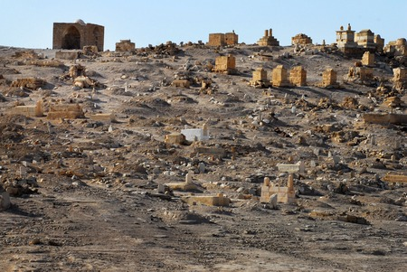 nabi: Old Muslim grave yard in Nabi Musa the Tomb of Moses, near Jericho and the Dead Sea, Israel. Stock Photo