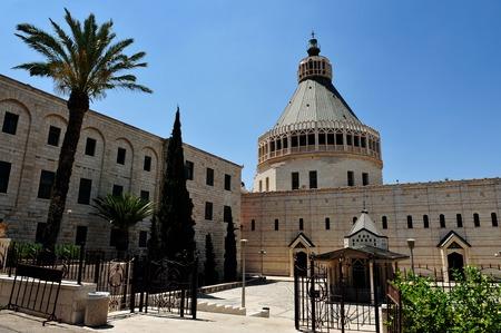 nazareth: Basilica of the Annunciation in Nazareth, Israel.