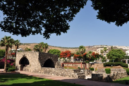 bazalt: Ruins of ancient Tiberias, Israel.
