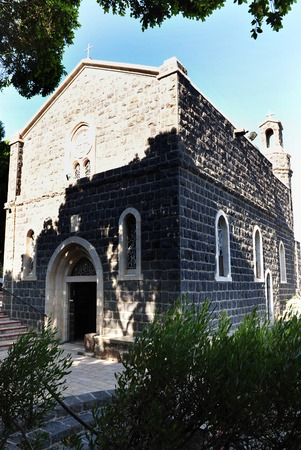 primacy: Church of the Primacy of Peter in Tabgha at the kinneret lake, Israel.