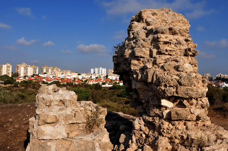 Ashkelon National Park, on the southern Mediterranean coast, encompasses history and heritage thousands of years old.  Ashkelon, Israel.