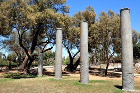 lamentation: Parco Nazionale Ashkelon, sulla costa meridionale del Mediterraneo, racchiude la storia e il patrimonio migliaia di anni. Ashkelon, Israele. Archivio Fotografico
