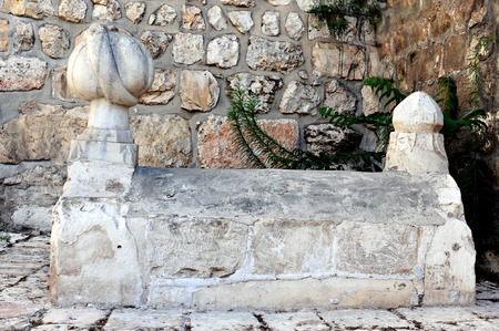 commissioned: The graves of one of the two architects whom Suleiman the Magnificent commissioned to construct the Old City walls located near Jaffa gate in old Jerusalem, Israel.