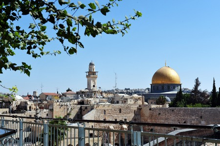 kotel: The Kotel Wailing Western Wall and Temple Mount in Jerusalem, Israel. Stock Photo