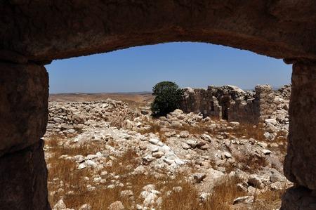 gat: Ancient ruins in Amatzia Caves near Kiryat Gat, Israel