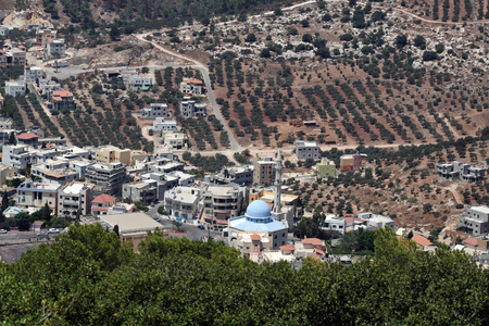 middle east peace: The Arab village of Daburiyya on Mount Tabor that located in Lower Galilee at the eastern end of the Iezreel Valley Israel
