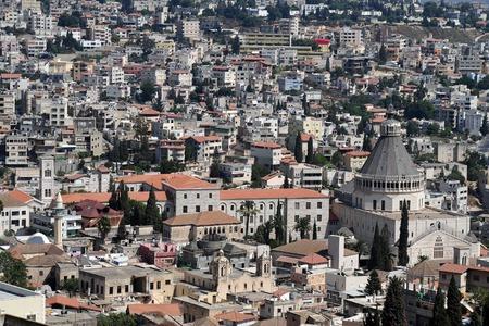 nazareth: General view of Nazareth, Israel.