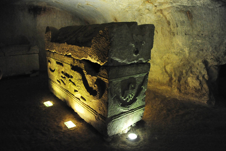 cursed: Ancient jewish tomb in Beit Shearim, Israel. Editorial