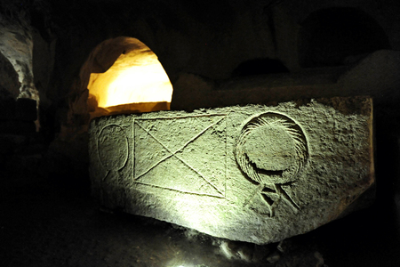 shearim: Ancient jewish tomb in Beit Shearim, Israel. Editorial