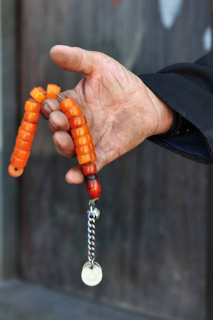 monotheism: A misbaha, subha, Tasbih, or tespih is a string of prayer beads which is traditionally used by Muslims to keep track of counting in tasbih.