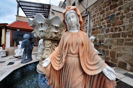 akko: Christian Catholic statues in Acre Akko, Israel.
