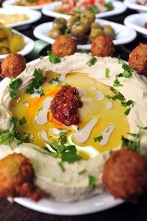 hummus: Hummus  mashed chickpeas and salads
