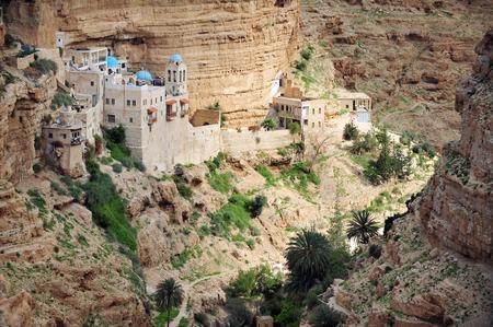 Monastère Geroge St. près de Jéricho et la Mer Morte dans le désert de Judée Israël