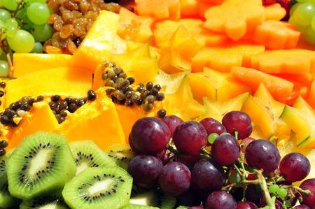 grenadilla: Mix of many native and exotic fruits Stock Photo
