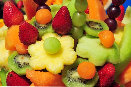 grenadilla: Mix of many native and exotic fruits. Stock Photo