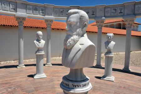 caesarea: Theodor Herzl statue in the Ralli MuseumRecanati Caesarea Israel