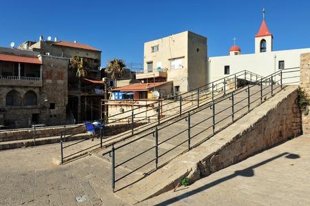 akko: Street scene of Acre Akko, Israel.