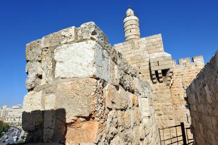 King David Citadel Jerusalem, Israel. 免版税图像