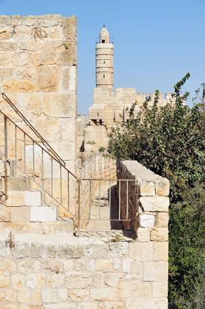 citadel: King David Citadel Jerusalem Israel Stock Photo