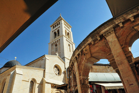 The Lutheran Church of the Redeemer - Christian Quarter in Jerusalem old city, Israel. photo