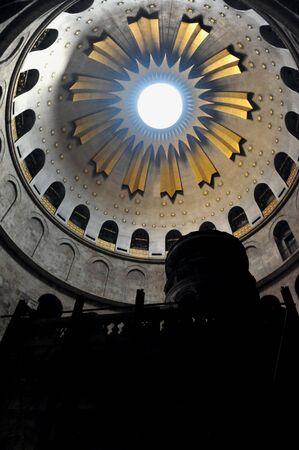 church of the holy sepulchre: Sepulchre of Jesus Christ in the church of the holy sepulchre Jerusalem Israel.