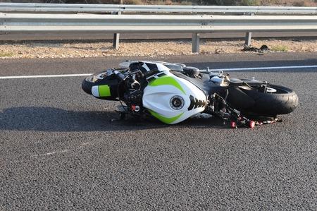 Motorongeluk op een snelweg
