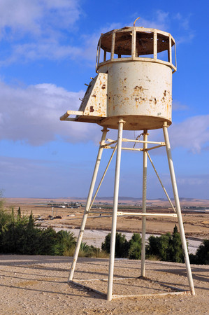watchtower: An old army guard watchtower in Nitzana Israel.