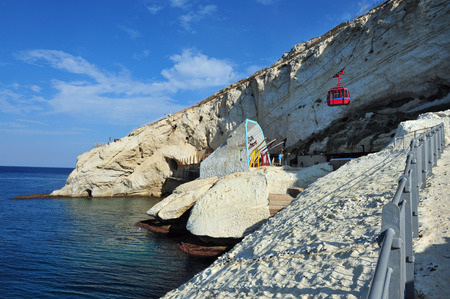 hanikra: Cable car to Rosh HaNikra grotto in North Israel
