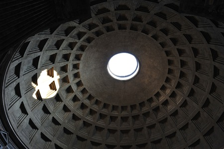 The Pantheon dome, Rome.
