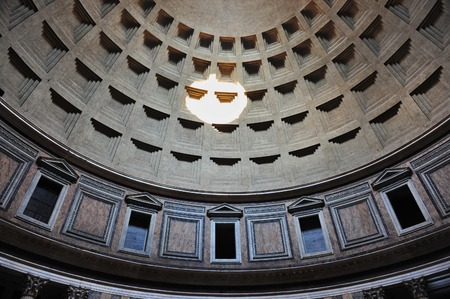 dome: The Pantheon dome, Rome. Editorial