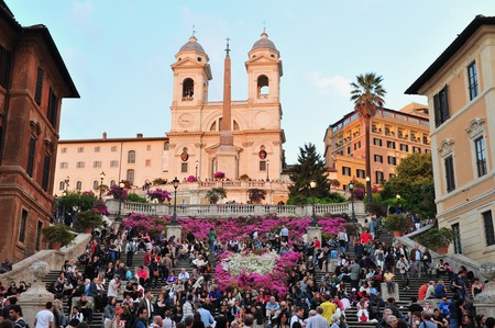 ancient rome: The Spanish Steps, Rome Italy. Editorial