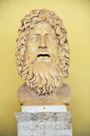 Artwork at the Vatican Museums, Vatican city in Rome Italy.