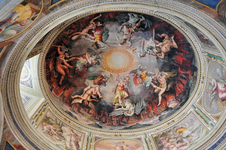 Artwork at the Vatican Museums in the Vatican city in Rome Italy. Redakční