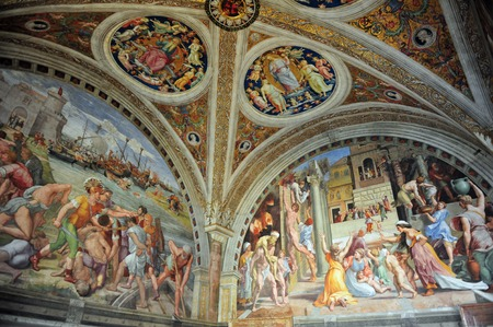 Artwork of Raphael paints at the Vatican Museum Vatican city in Rome Italy