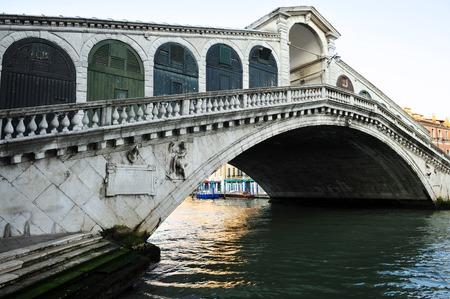 rialto: The Rialto bridge over the Grand Canal in Venice Italy