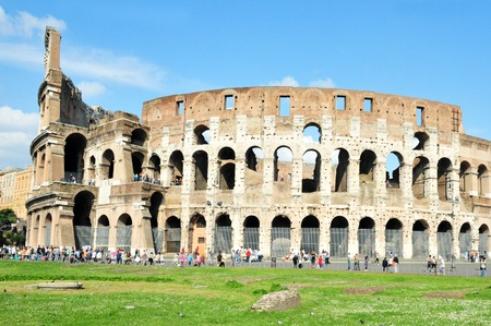 amphitheatre: The Colosseum iselliptical amphitheatre in Rome, Italy. Stock Photo