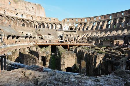 amphitheatre: The Colosseum iselliptical amphitheatre in Rome, Italy. Stock Photo