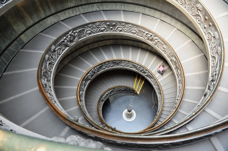 double helix: Double helix Spiral staircase designed by Giuseppe Momo of the Vatican Museum in Rome, Italy