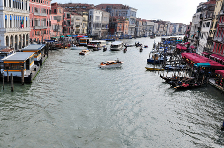 grand canal: View of the Grand Canal in Venice, Italy. Editorial