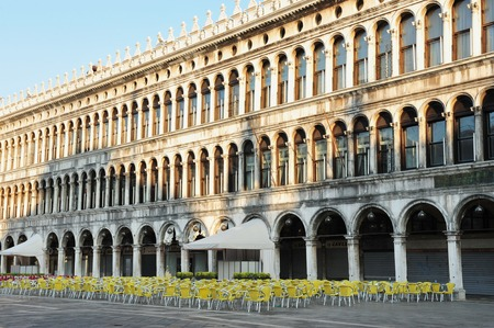 vecchie: The Procuratie Vecchie empty at the Piazza San Marco - St Mark